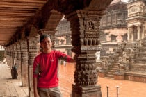Marcos at the Durbar Square, in Bhaktapur, Nepal