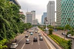 Jalan Thamrin (street) at the Central Business District (CBD), in Jakarta, Indonesia