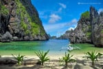 Secret Lagoon Beach in Miniloc Island, El Nido, Palawan, Philippines