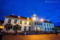 History Museum at night in Jakarta, Indonesia