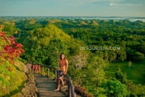 Chocolate Hills sunrise view in Carmen, Bohol, Philippines