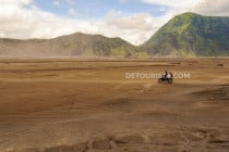Sea of Sand in Mount Bromo-Tengger-Semeru National Park, East Java, Indonesia