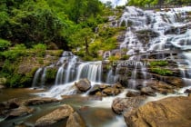 Mae Ya Waterfall found at the foot of Mount Doi Inthanon in Chiang Mai, Thailand
