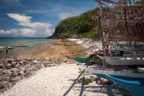Pebble beach on the back side of Apo Island in Dauin, Negros Oriental, Philippines